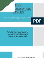 Five Communication Styles