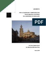 Lineamientos Elaboracion y Tramitacion Tesis Maestria o Doctorado Universidad Guadalajara