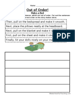 Sequence Worksheet Bed