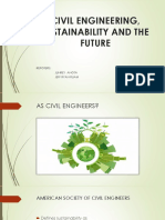 Civil Engineering Sustainability and the Futurre