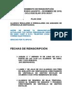 Procedimiento Reinscripcion 201(1)