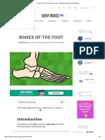Bones of the Foot _ Tarsal Bones - Metatarsal Bone _ Geeky Medics
