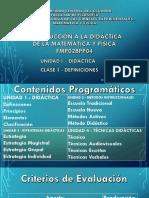 Clase 1 - La Didáctica - Definiciones-2