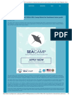 Applications for the 2018 YSEALI SEA Camp-Bohol for Southeast Asian Youth Now Open! _ Marine Conservation in the Philippines _ Save Philippine Seas