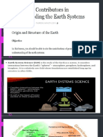 contributors in the study of the earth system