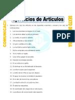 7. Ficha Ejemplos de Articulos Para Sexto de Primaria