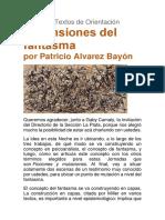 """""""Escansiones del fantasma"""" por Patricio Alvarez Bayón"""