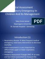 Initial Assessment of Respi. Emergency (PKGDI Medan)