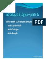 Introdução à Lógica IV
