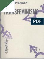 PRECIADO Transfeminismo