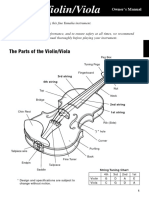 Parts of the violin