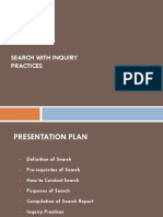 Search With Inquiry Practices