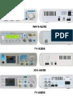 Geradores de Função JUNCE KKmoon DANIU RUIDENG JUNTEK FELLTECH Mhs5200 Fy3200 Jds6600 Fy6600
