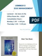 Intro to strategic management