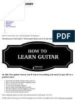 How to Learn Guitar_ an 11-Step Programme for Beginners
