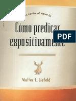 Como Predicar Expositivamente Walter L. Liefeld