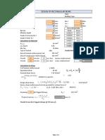 Beam Design Sheet