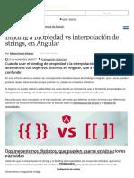 Binding a Propiedad vs Interpolación de Strings, En Angular