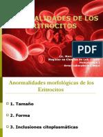 Anormalidades eritrocitarias