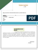 Fm Term Paper