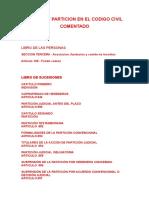 Division y Particion en El Codigo Civil Comentado