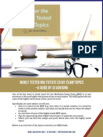 Highly Tested Multistate Essay Exam Topics Guide 1