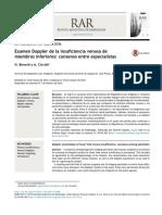 Examen Doppler de La Insuficiencia Venosa de Miembros Inferiores Consenso Entre Especialistas