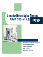 Contador Hematológico Siemens ADVIA 2120 Con Autoslide.