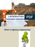 1.0 Introduction to Highway Engineering