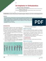 Role of Mini-implants in Orthodontics