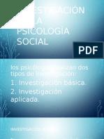 Realización de La Investigación en La Psicología Social