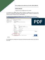 Informe de Configuración de servidor