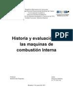 Historia y Evaluación de Las Maquinas de Combustión Interna