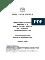 3. Determinantes del ratio de morosidad en el sistema financiero boliviano.pdf