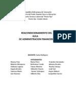 Proyecto Reacondicionamiento Del Aulade Administracion Financiera