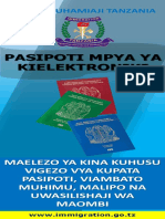Kipeperushi Cha Viambato Vya Passport Mpya ya Tanzania
