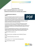 Bases y Condiciones Familias Fuertes 2019