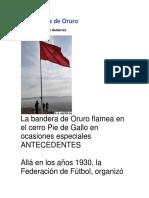 ORURO BANDERA