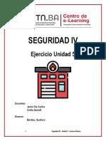 Seguridad IV - Ejercicio Unidad 5 - Gustavo Bordeu