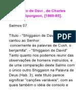Tesouros de Davi 7. Estudos do Salmo 7.