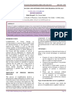 Lyophilization - Process and Optimization for Phar