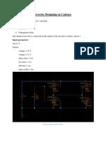 invertor designing on cadence