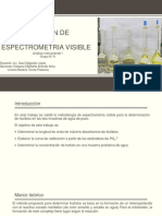 Determinación de Fosfatos Por Espectrometria Visible
