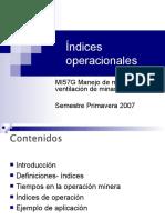 Clase 09 Indices de Operacion