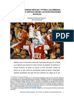 Hinchadas, Barras Bravas y Fútbol Colombiano. Perspectivas Críticas Desde Las Investigaciones Sociales