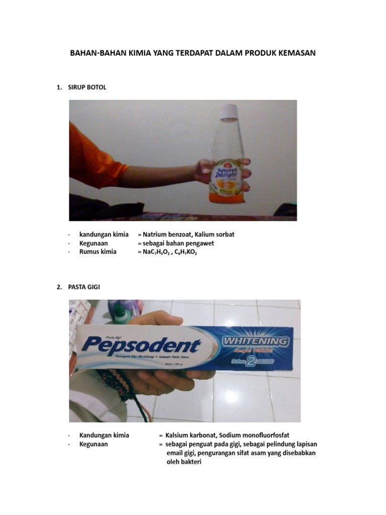 Bahan Bahan Kimia Yang Terdapat Dalam Produk Kemasan