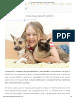 Las Cinco Mejores Mascotas Para Los Niños - Etapa Infantil