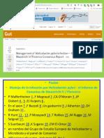 Manejo de La Infección Por Helicobacter Pylori El Informe de Consenso Ce Maastricht v Florrencia, Italia