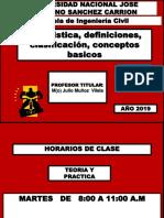 Clase de Estadistica Pregrado 2019