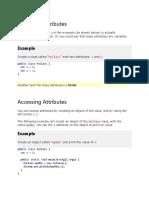 Java Class Attributes